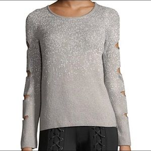 NWT SCRIPTED sparkle sweater